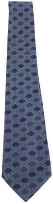 Hermes Vintage Blue Silk Ties
