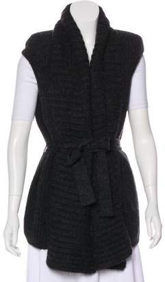 Maison Margiela Sleeveless Alpaca Cardigan w/ Tags