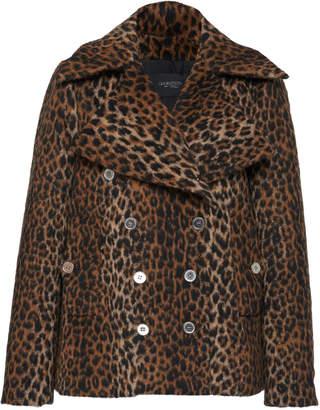 Giambattista Valli Double Breasted Leopard Print Virgin Wool Jacket