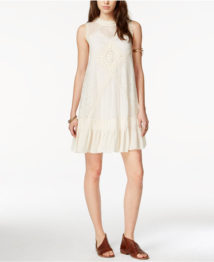 Free People Angel Lace Mixed-Media Dress 2