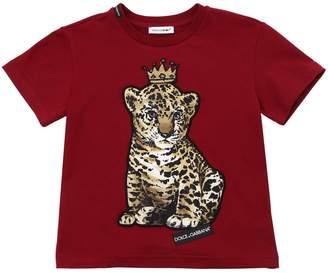Dolce & Gabbana King Leopard Cotton Jersey T-Shirt