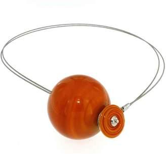 Murano Susanna Martini Handmade necklace design Glass woman PLANETS ocher Mercury Made in Italy