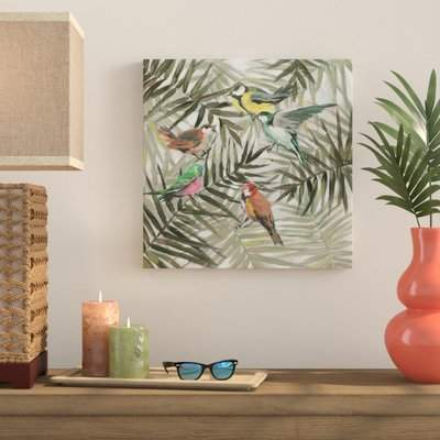 Wayfair 'The Joy in the Jungle II' Framed Print on Wrapped Canvas