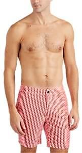 Onia Men's Calder Zigzag-Triangle Swim Trunks - Red