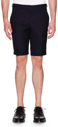 Thom Browne Side-Tab Shorts, Navy