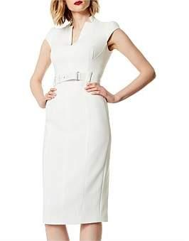 Karen Millen Tailored Belted Dress