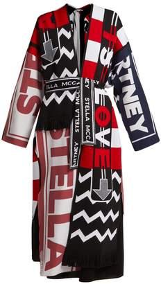 Stella McCartney Graphic logo-knit oversized cardigan
