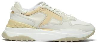 Tod's Sport Leather And Mesh Low Top Trainers - Womens - White