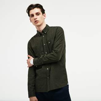 Lacoste Men's Regular Fit Check Cotton Twill Shirt