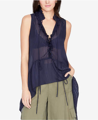 Rachel Roy Ruffled High-Low Top, Created for Macy's