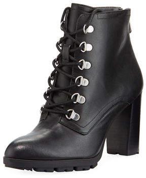 Adrienne Vittadini Thad Distressed Calf Leather Booties