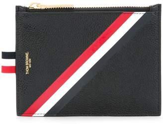 Thom Browne striped print zipped purse