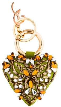 Christian Lacroix Embellished Heart Keychain