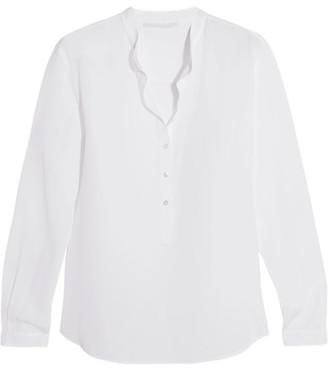 Stella McCartney - Eva Silk Crepe De Chine Blouse - White $595 thestylecure.com