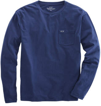Vineyard Vines Long-Sleeve Overdyed Heathered T-Shirt