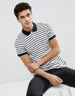 French Connection Thin Stripe Polo Shirt
