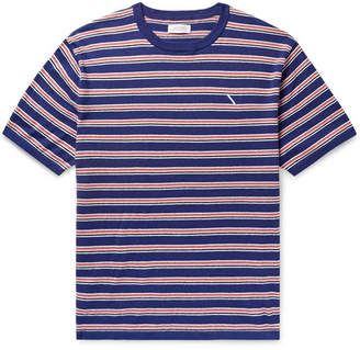 Saturdays NYC Knitted Cotton And Cashmere-blend T-shirt - Blue