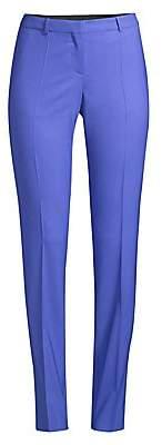 BOSS Women's Tilunana Regular-Fit Straight-Leg Stretch Wool Trousers - Size 0
