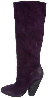 Marsèll Distressed Suede Knee-High Boots