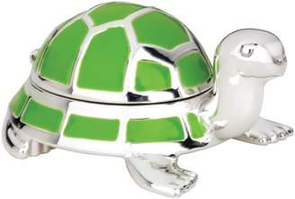 Reed & Barton 9136 Jungle Parade Silverplate Turtle Tooth Fairy Box