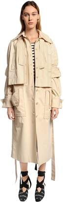 J.W.Anderson Layered Cotton Twill Trench Coat
