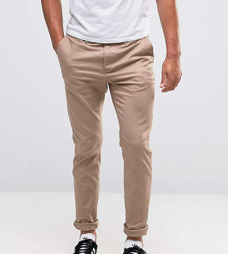 Asos Tall Skinny Chinos In Stone