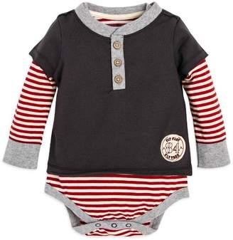 Burt's Bees Candy Cane Stripe 2Fer Organic Baby Boys Bodysuit