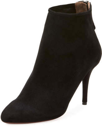 Aquazzura Brook Kid Suede Ankle Bootie