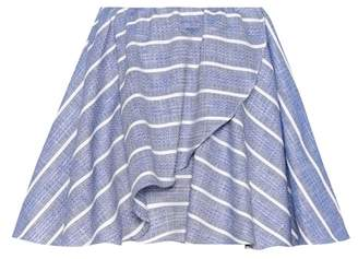 Caroline Constas Crossover Wave striped skirt