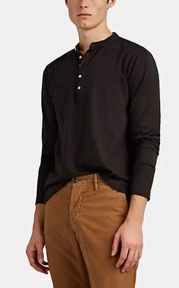 Massimo Alba Men's Cotton-Cashmere Henley - Black