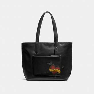 Coach Metropolitan Soft Tote With Tattoo Tooling