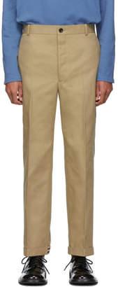 Thom Browne Khaki Twill Cavalry Chino Trousers