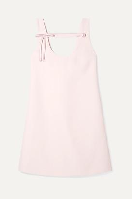 Prada Bow-detailed Cady Mini Dress - Pastel pink