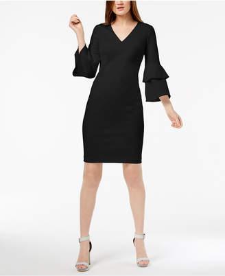 Calvin Klein Tiered-Sleeve Sheath Dress