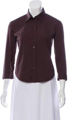 Prada Long Sleeve Button Down Top