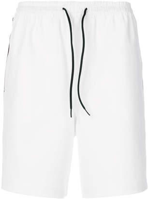 Y-3 side stripe track shorts