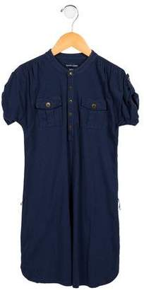 Ralph Lauren Girls' Button-Up Shift Dress