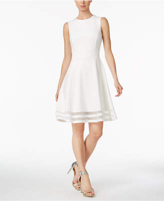 99398a4d90ae2 Calvin Klein Illusion-Trim Fit & Flare Dress