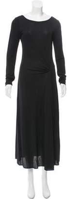 Celine Fluted Slit-Accented Dress