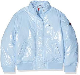 Tommy Hilfiger Girl's High Shine Boxey Puffer Jacket (Blue Bell 416), (Size: 14)
