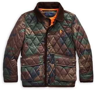 Ralph Lauren Childrenswear Little Boy's Camo-Print Quilted Jacket