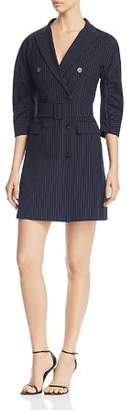 Marella Raft Striped Double-Breasted Mini Dress