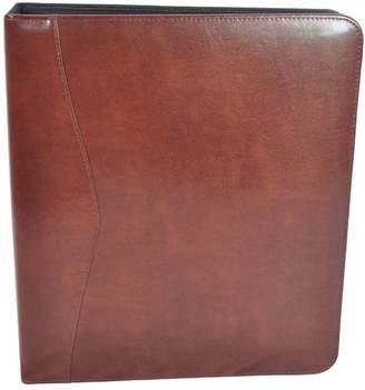 "Royce Leather 2"" D - Ring Binder, British Tan"