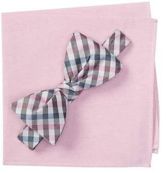 BROLETTO Belieu Check Bow Tie & Pocket Square Set