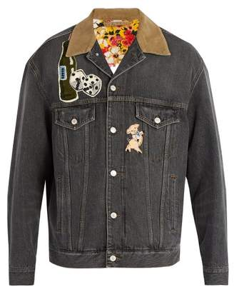 Gucci Logo Denim Jacket - Mens - Black