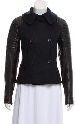 A.L.C. Leather Wool Jacket