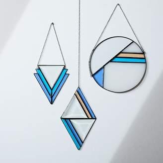 west elm Janel Foo Glassworks Modern Geo Suncatcher