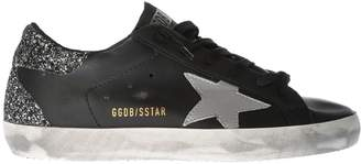 Golden Goose Glitter-heel Superstar Sneakers