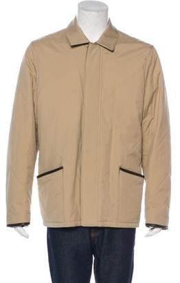 Loro Piana Horsey Leather-Trimmed Jacket
