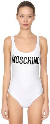 Moschino Logo Print Lycra One Piece Swimsuit